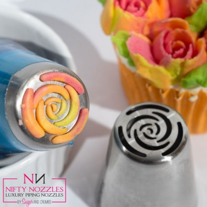 Sugar and Crumbs Nifty Nozzles - 10 petal rose-