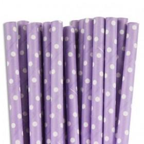 Cannucce di carta viola e bianche