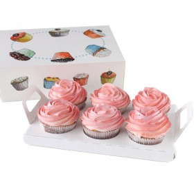 Porta 6 cupcakes