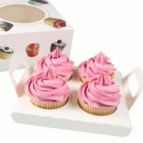 Porta 4 cupcakes